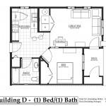 D Building north side 1 bedroom, 1 bathroom