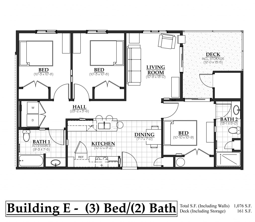 E- 3Bedroom, 2Bathroom