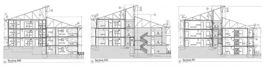 Building D N/S cross section