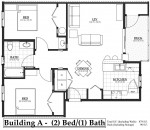 Building A 2 bedroom, 1 bathroom