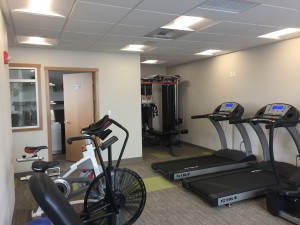 Treadmills, spinning bike, and weight machine