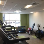 Treadmills, free weights, elipticals