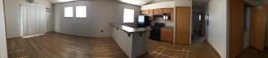 kitchen livingroom panorama